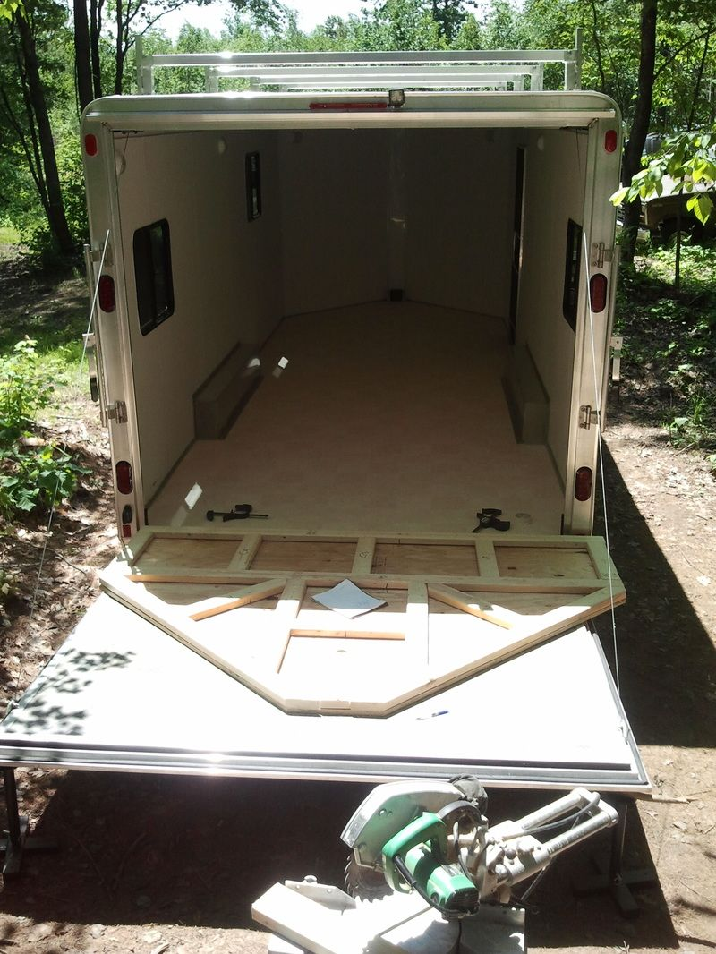 Cargo trailer conversion with solar panels, heat pump and ...