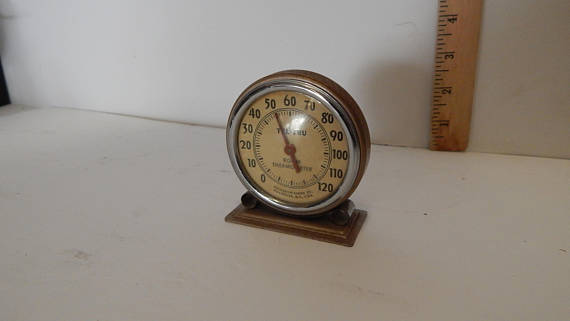 Charmant Vintage Art Deco Tel Tru Room Thermometer Germanow Simon Working In Great  Condition.epsteam