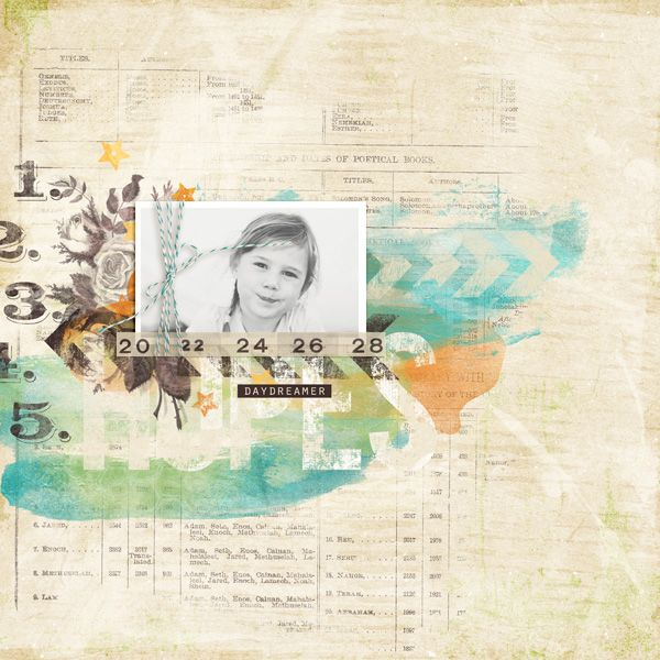 Heart Art : Tangerine Dreams by Sugarplum Paperie : Layout by Brenda