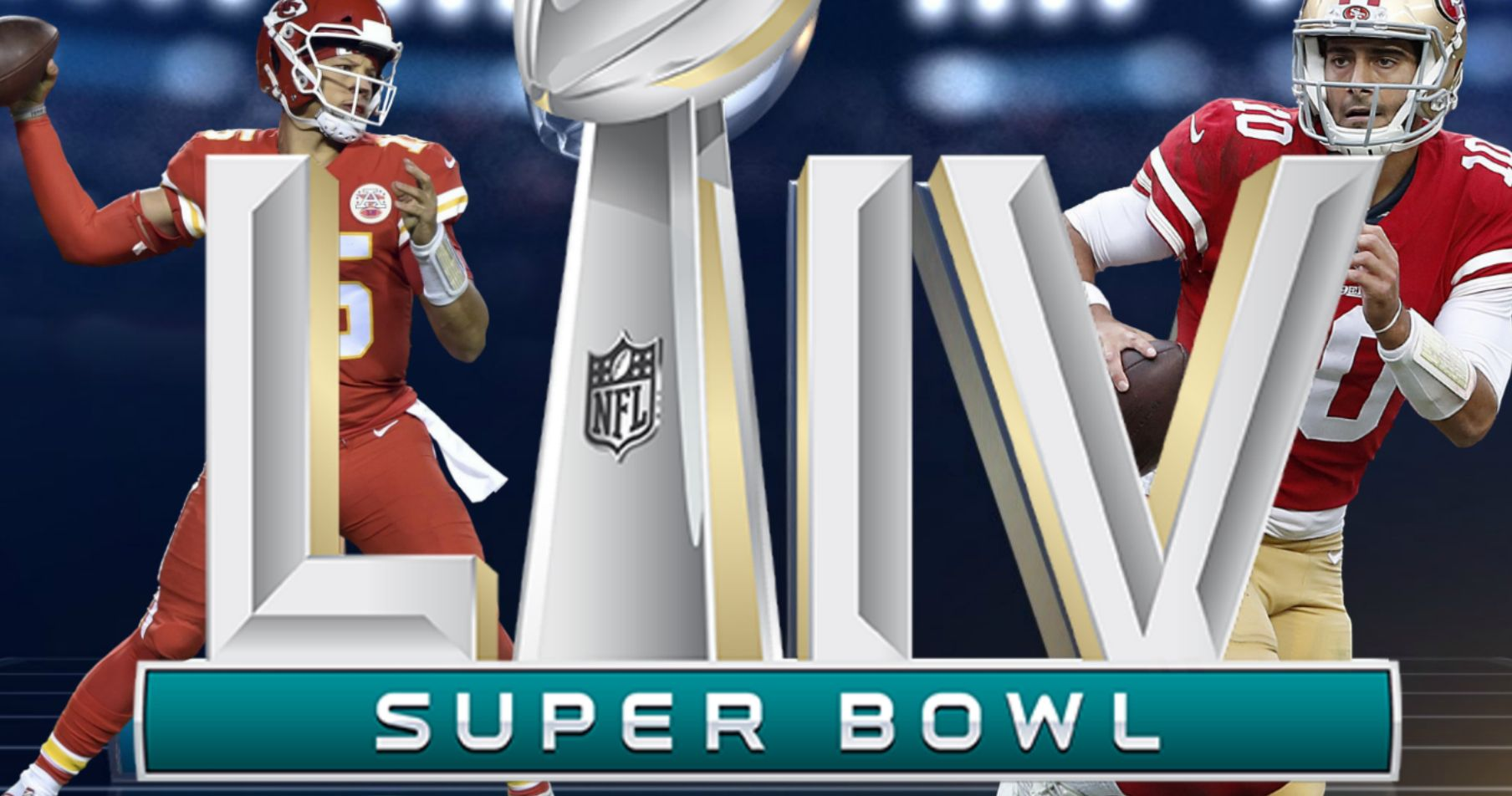 It S Kansas City Chiefs Vs San Francisco 49ers In Super Bowl 2020 Patrick Mahomes And Jimmy Garoppolo Will Go Hea In 2020 Super Bowl Kansas City Chiefs Kansas City