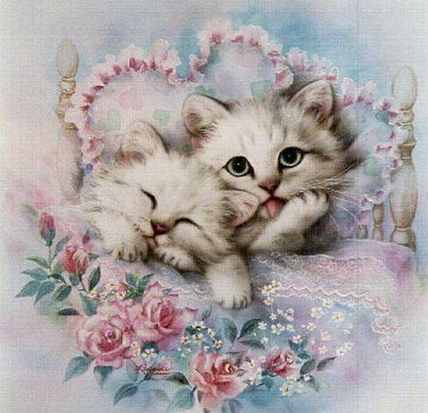 Котенок с открытки