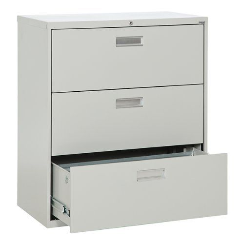 Sandusky Lee Lateral File Cabinet w/ Three Drawers and Aluminum ...