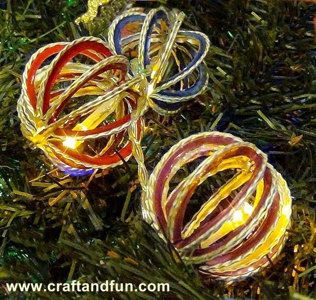 Riciclo creativo craft and fun palline di natale for Decorazioni natalizie personalizzate