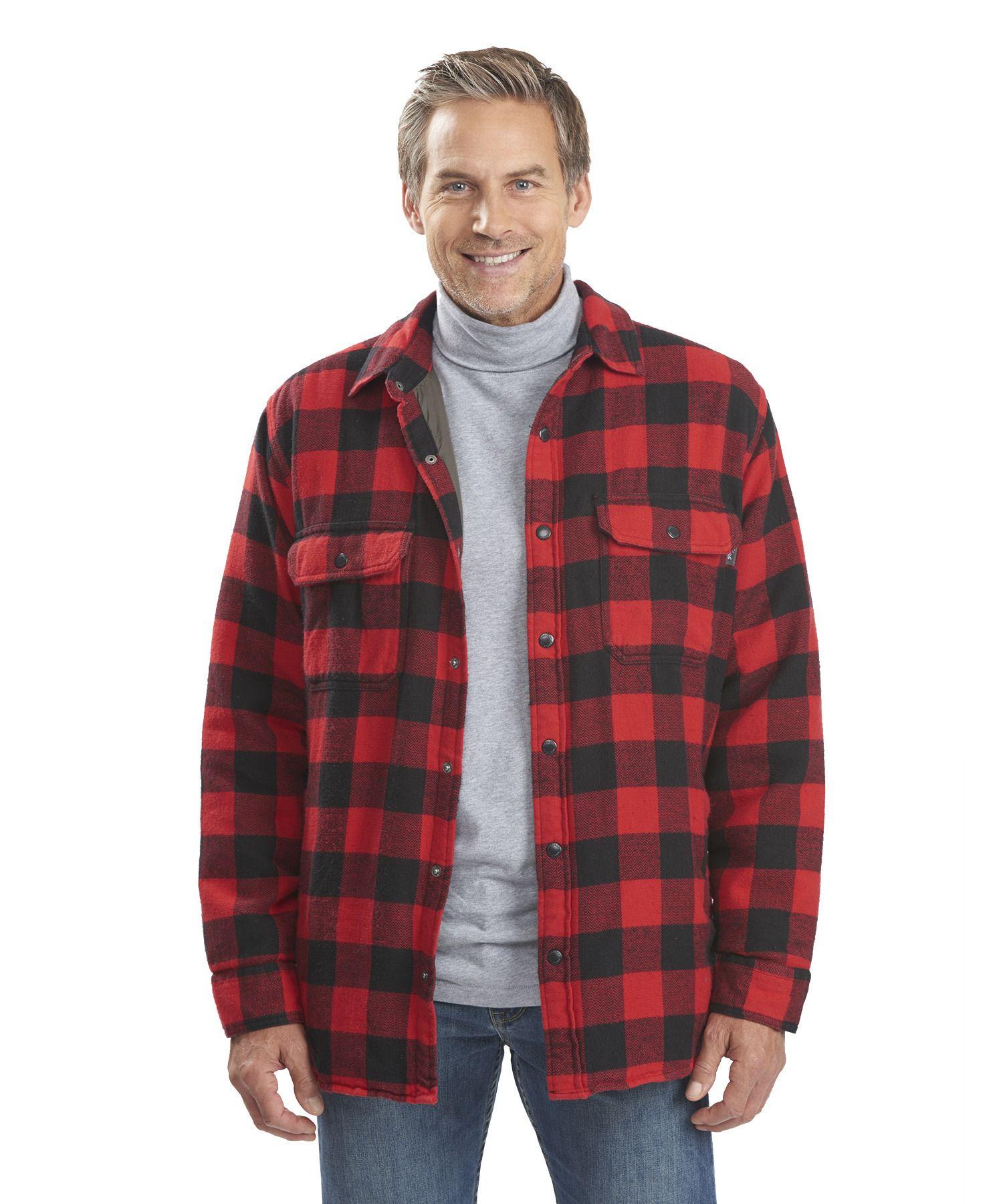 Men 39 s oxbow bend plaid flannel shirt jac w clothing for Plaid shirt jacket mens