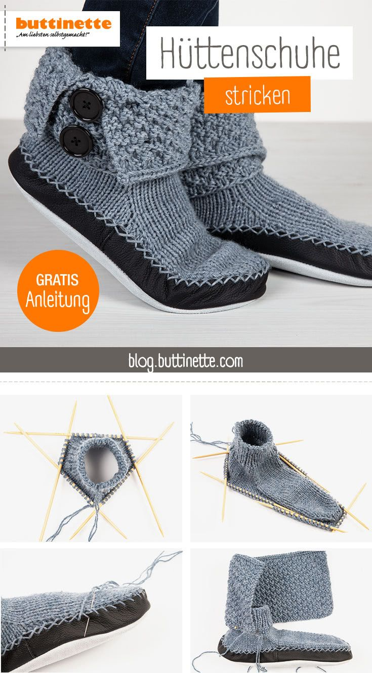 Photo of Make slippers yourself: knit slippers