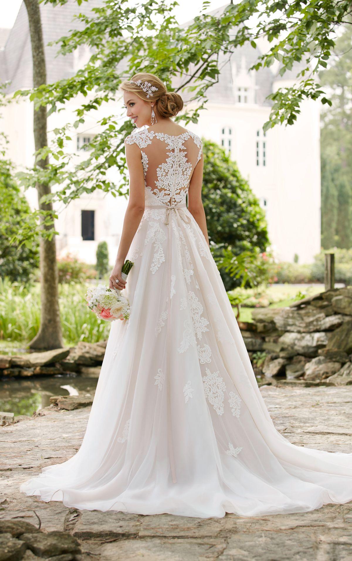 Romantic Cap Sleeve Wedding Dress With Cameo Back Stella York Romantic Wedding Dress Lace Wedding Dress Cap Sleeves Wedding Dresses