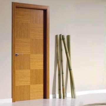 Reconstructed teak flush door. Made with a careful use of natural resourcers. SanRafael Lisa Model K12-Reconstructed Teak. #spanishdoors