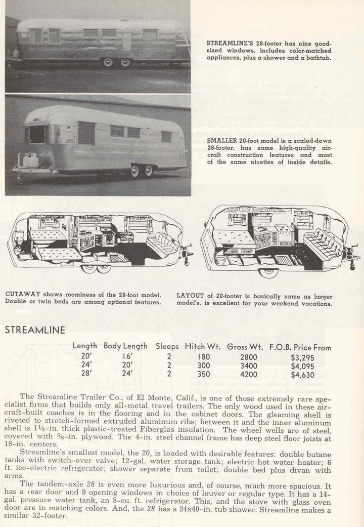 1959 Specifications Vintage Travel Trailers Travel Trailer Floor Plans Vintage Trailers