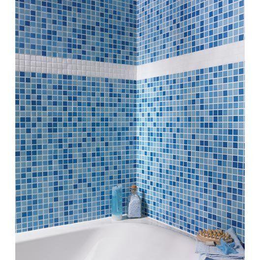 mosaique_pate_de_verre_pool__bleu__2_x_2_cm | salle de bain ...