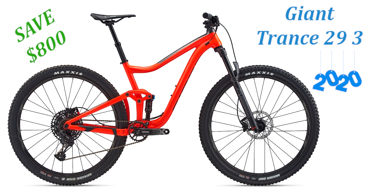 Giant Trance 29er 3 20 Red In 2020 Giant Trance Bike Trails Bike