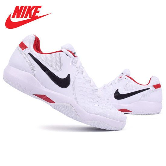 release date: e1e6e cd20a Nike Men s AIR ZOOM RESISTANCE Tennis Shoes Racket Swoosh White 918194-101  NWT  Nike