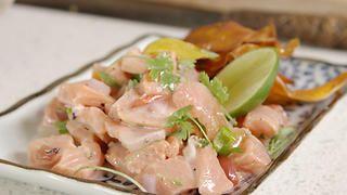 Kokoda with sweet potato chips | Seafood recipes | SBS Food