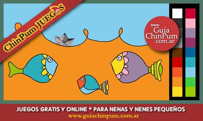 Dibujos para pintar en línea para niños pequeños. Concentrados en su ...