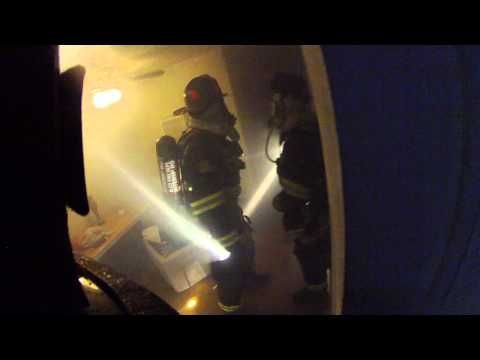 If you haven't seen the dramatic video of last Tuesday's San Leandro fire in progress, captured by an Alameda County firefighter's helmet cam