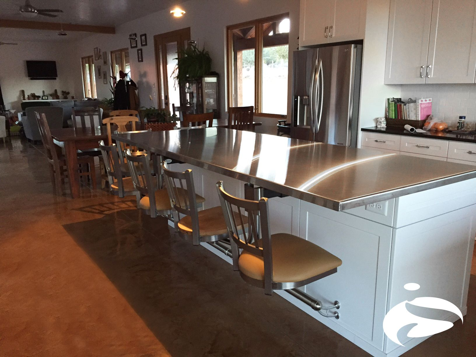 Beautiful stainless steel countertop barstools find us