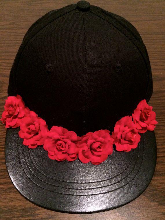 Flower Snapback Hat Floral Snapback Flower Crown Flower 8d6fc80045c8