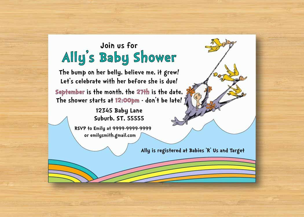 Oh The Places You\'ll Go Baby Shower Invitation - Printable - 5x7 Dr ...