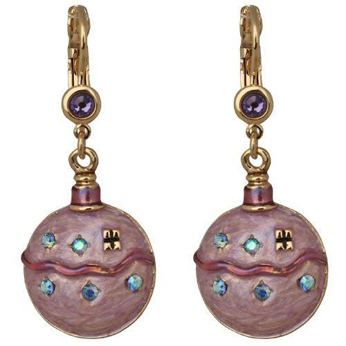 Holiday Splendor Leverback Earrings (Goldtone): Kirks Folly Online Web Store