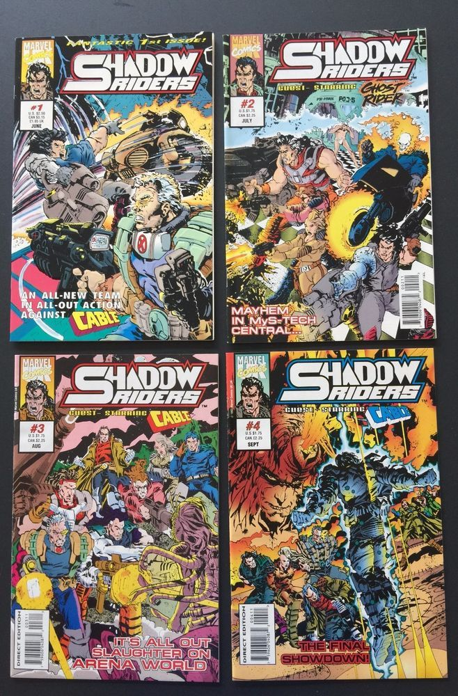 Guest Starring Cable & Ghost Rider. Shadow Riders Limited Series. Could possibly be Near Mint but I would rather go lower on my grade as I read comic books but am no expert in grading them. This comic book set looks great to me. | eBay!