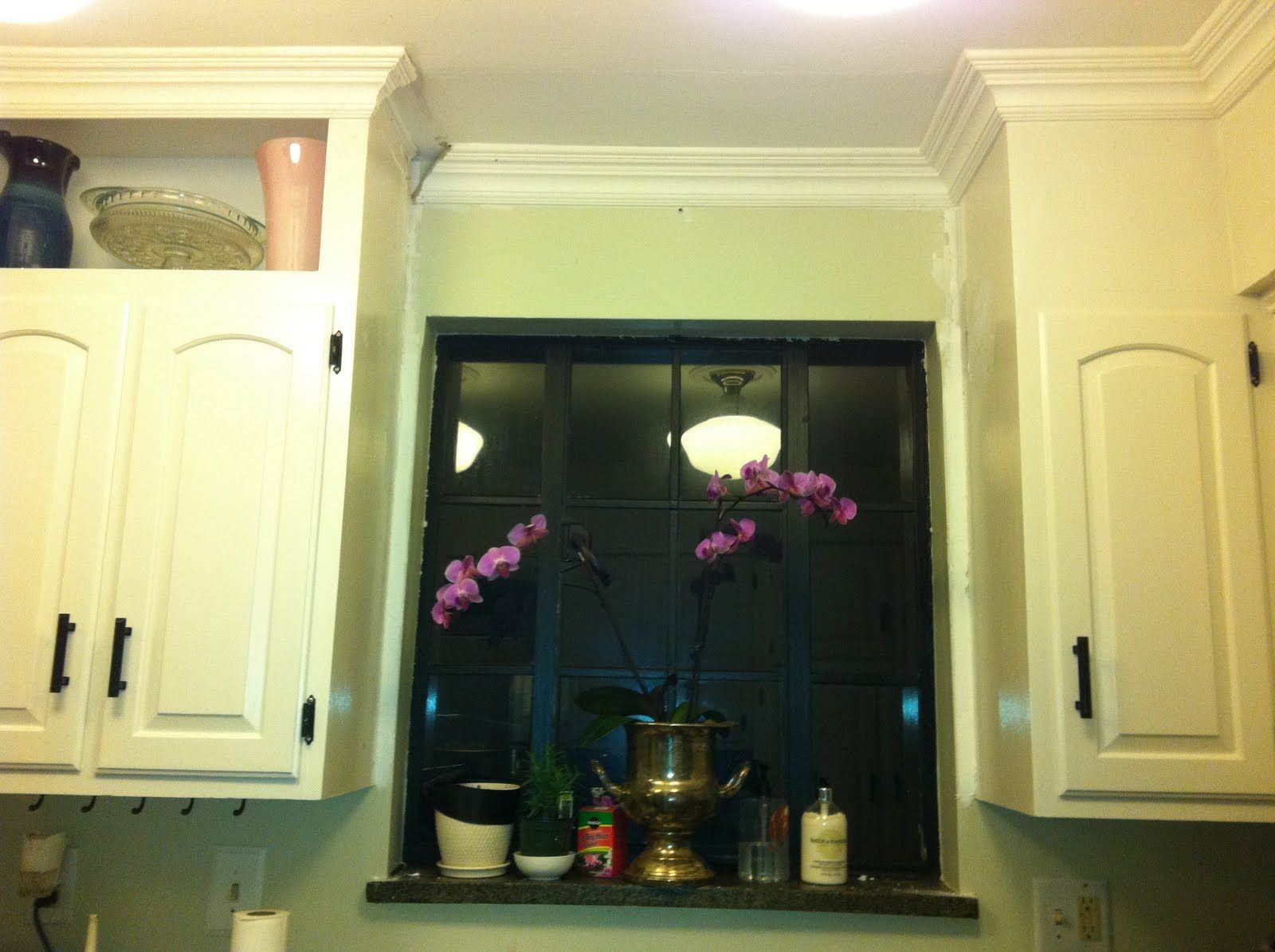 Kitchen soffit transformation with DIY crown molding | KItchen ...