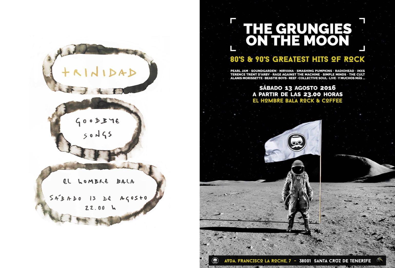 Hoy Sábado, 22:00:  TRINIDAD en concierto presenta 'Goodbye Songs' + Djs THE GRUNGIES ON THE MOON (aka Jorge 'Chicle' & Ale Maasvadt)