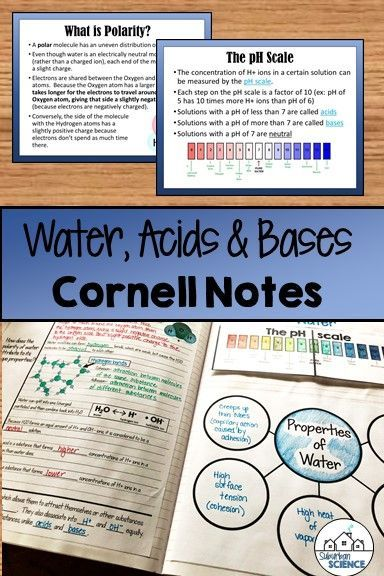 Properties of Water Acids and Bases in 2020   Cornell ...