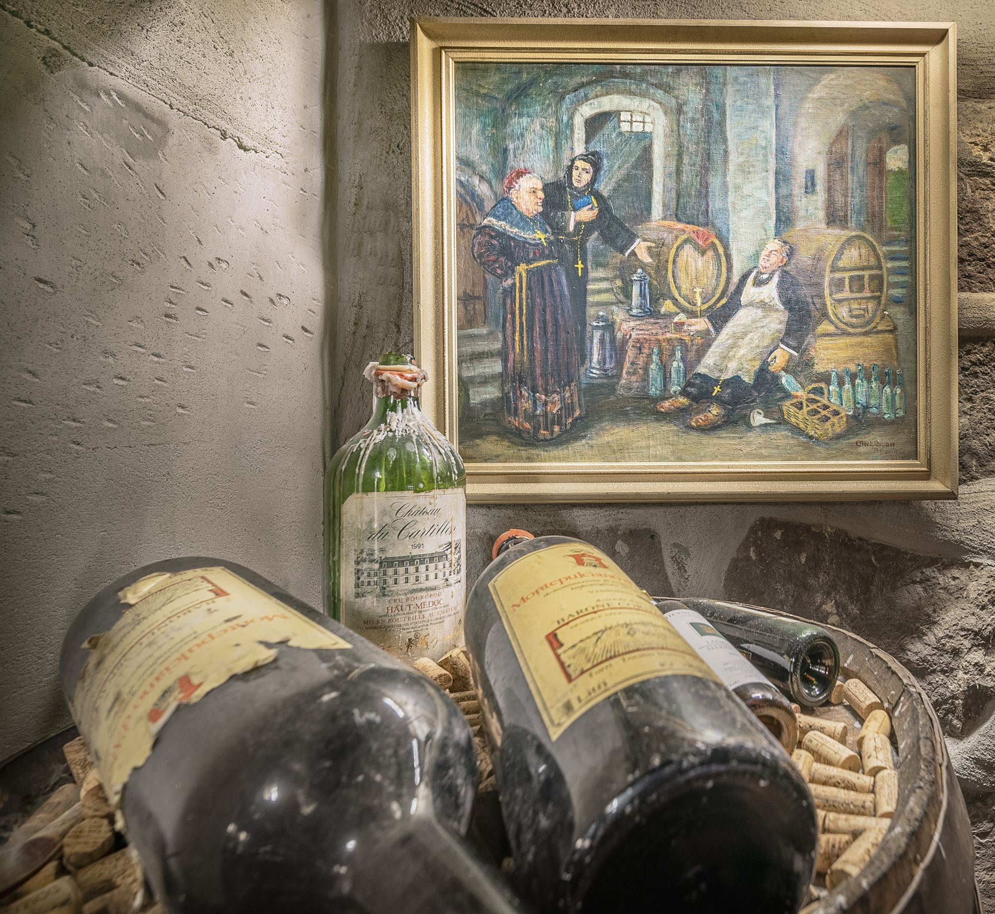 Our Wine Cellar Contains More That 7000 Bottles From Mostly From