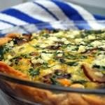 Three Cheese-Vegetable Quiche