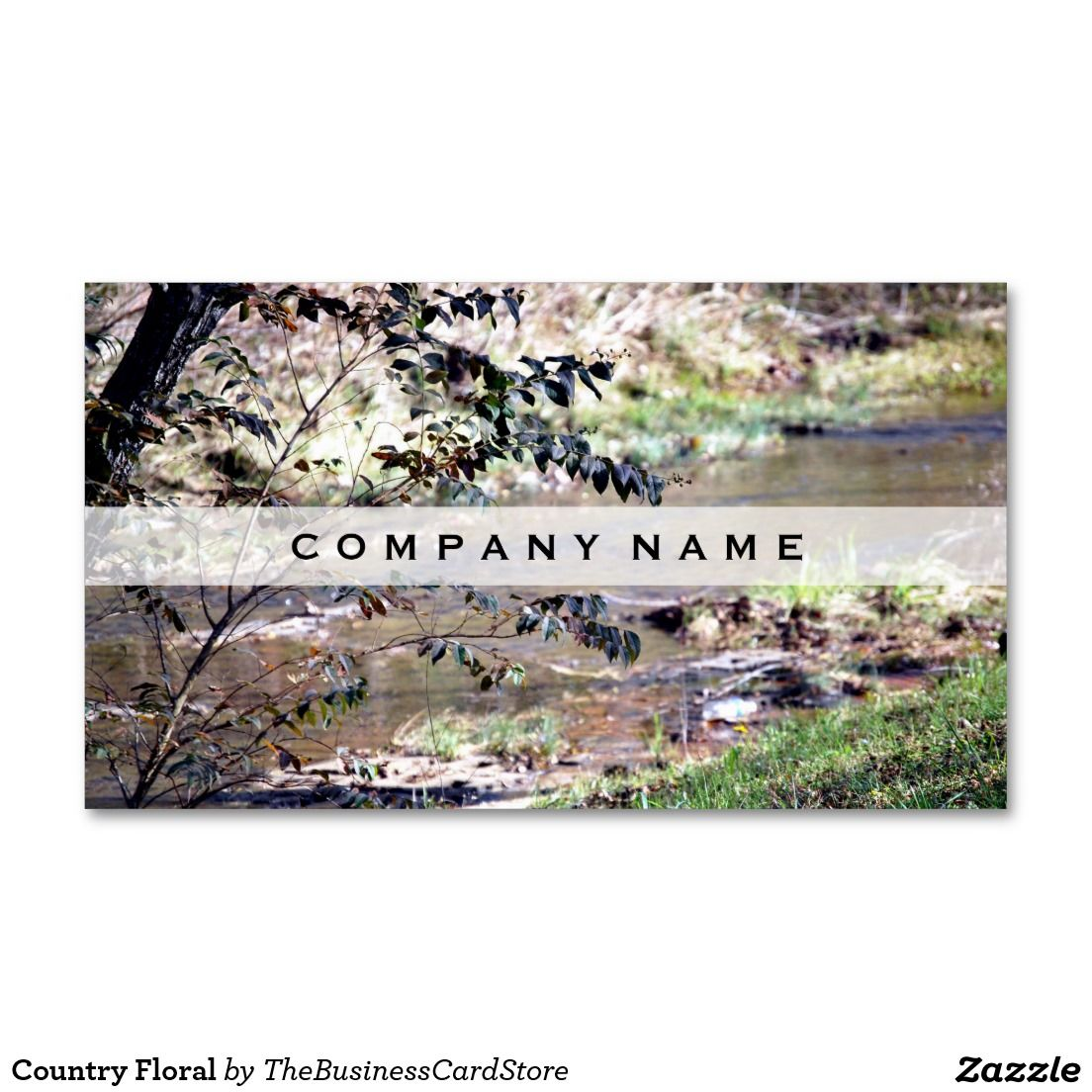 Country Floral Standard Business Card   FLORAL AND COUNTRY BUSINESS ...