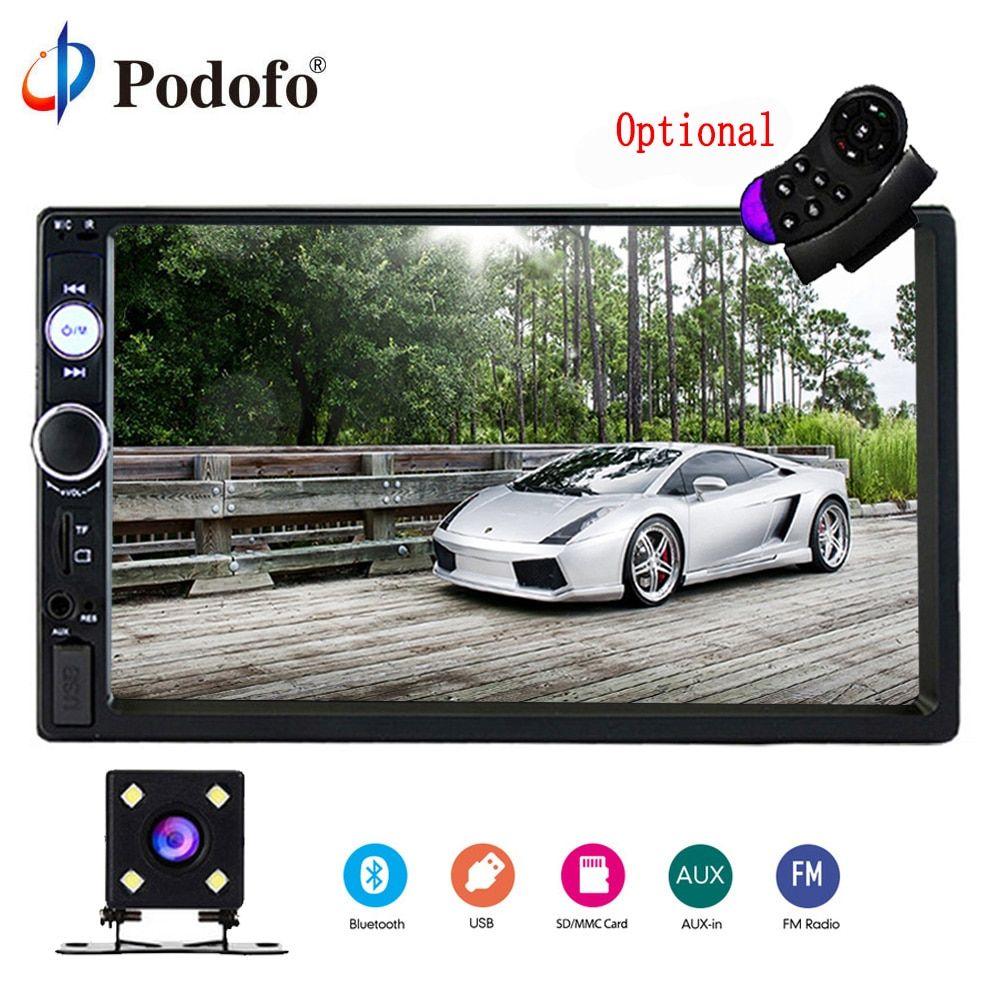 Cheap Sale Podofo 2din Car Radio 7 Gps Navigation Audio Radio Bluetooth Autoradio Mp5 Player Car Stereo Usb Sd Multimedia Rear View Camera Car Electronics