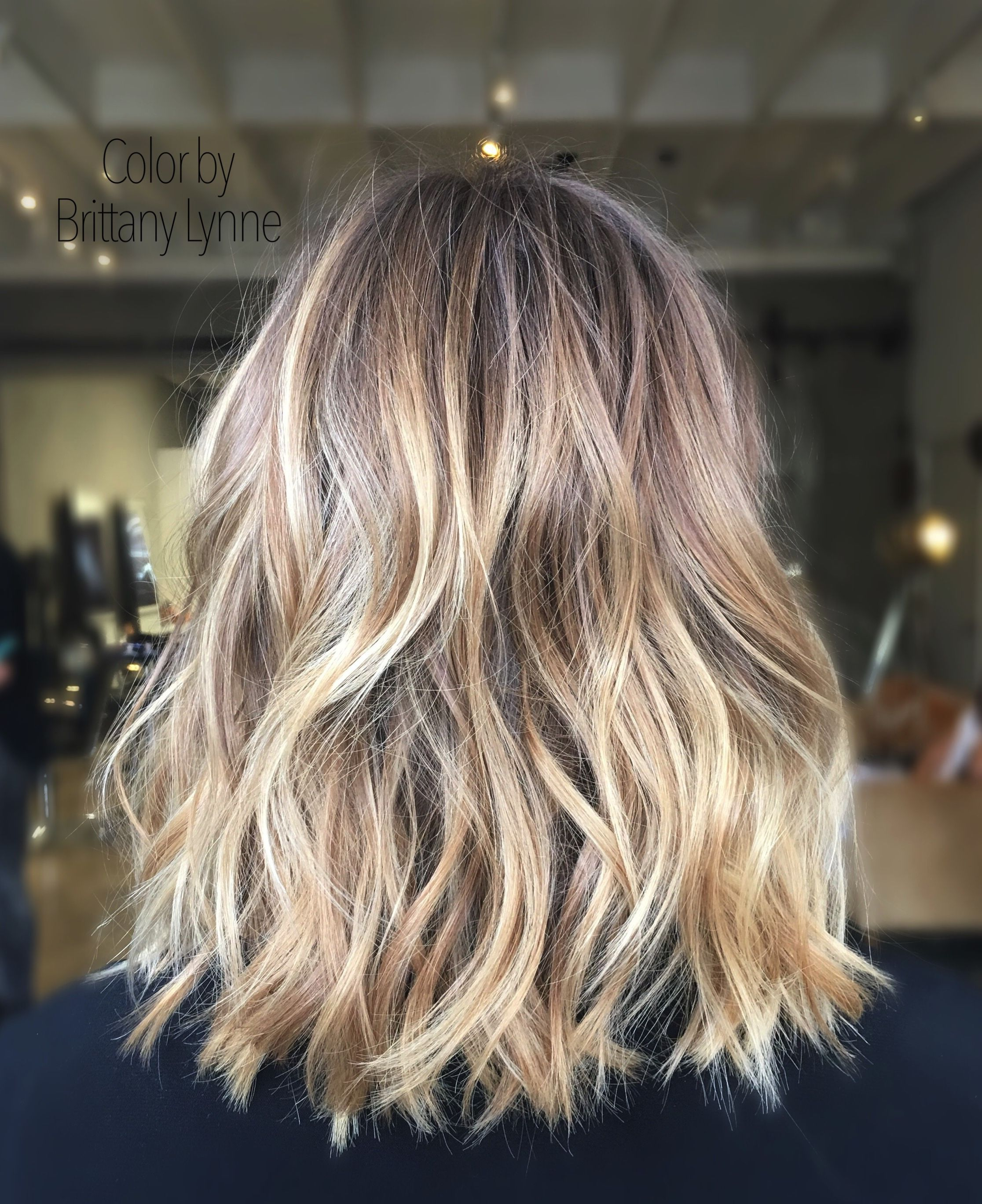 Blonde Balayage Hair Colors With Highlights: Hair Color By Brittany Lynne
