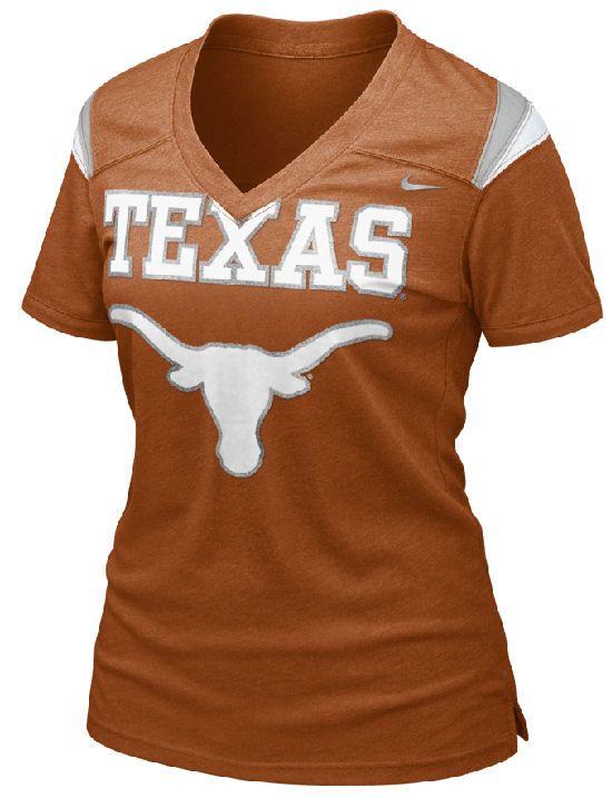 Nike Texas Longhorns Women s Football Replica T-Shirt discovered on Fantasy  Shopper 91ce301b5c