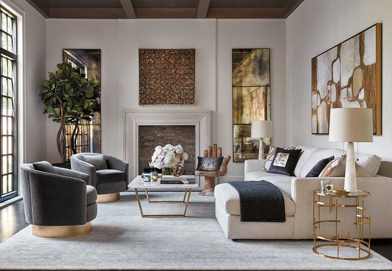 Sublime Dimension In 2020 Gold Living Room Trendy Living Rooms Living Decor