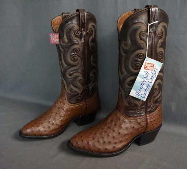 e7c926c7322 Brand: Tony Lama Boots Style: Full Quill ostrich Color: Coffee ...