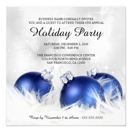 Corporate Christmas And Holiday Party Invitations