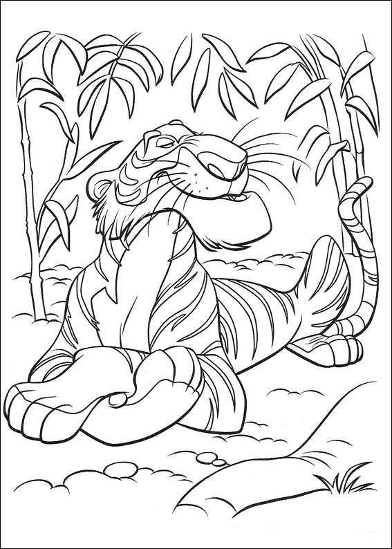 Shere Khan Jungle Book Coloring Page Lustige Malvorlagen Disney Dschungelbuch Bunte Zeichnungen