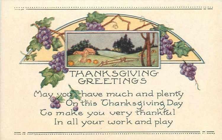 Thanksgiving~Art Deco~Pumpkin Farm~Cornstalks~Grape Vine~Embossed~Whitney Made | eBay