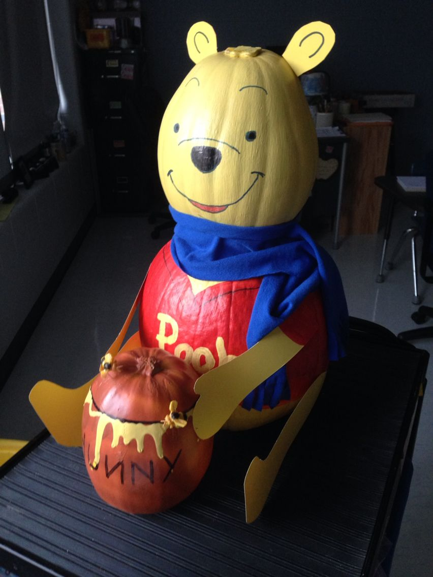 Winnie The Pooh Pumpkin Character Pumpkins Pinterest