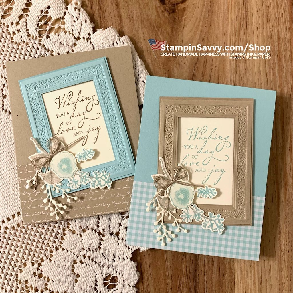The Woven Heirlooms Bundle features a stamp set and die/embossing folder duo that creates ornate frames for your handmade paper-crafting projects❤️
