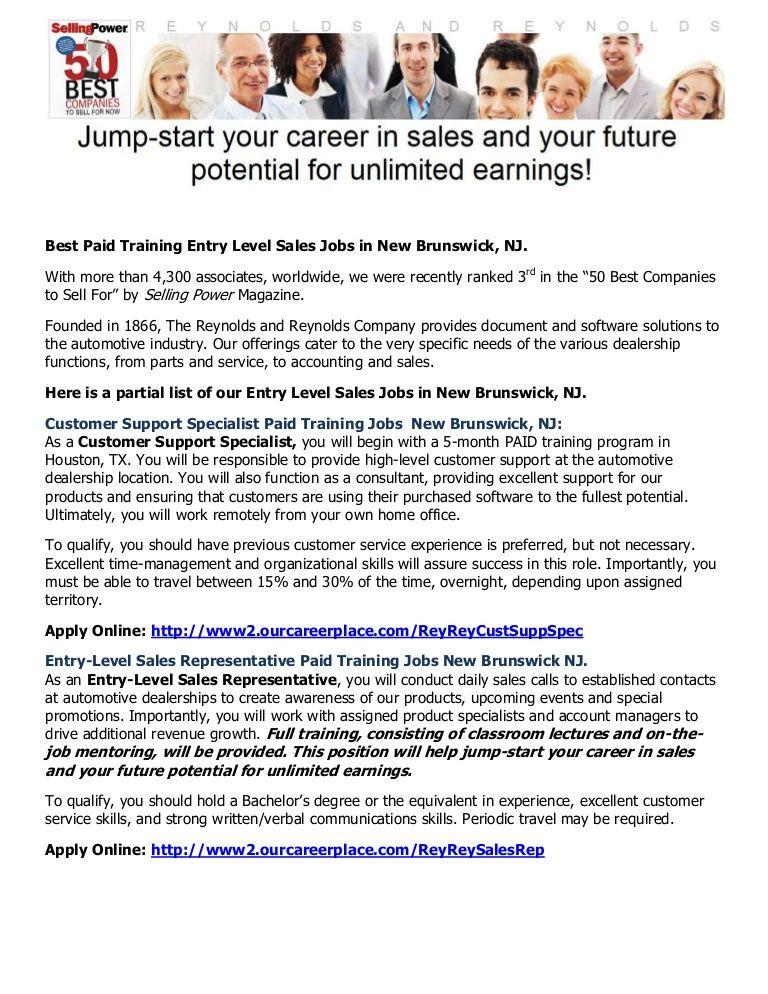 Best sales jobs in New Brunswick NJ Learn 2 Earn on us