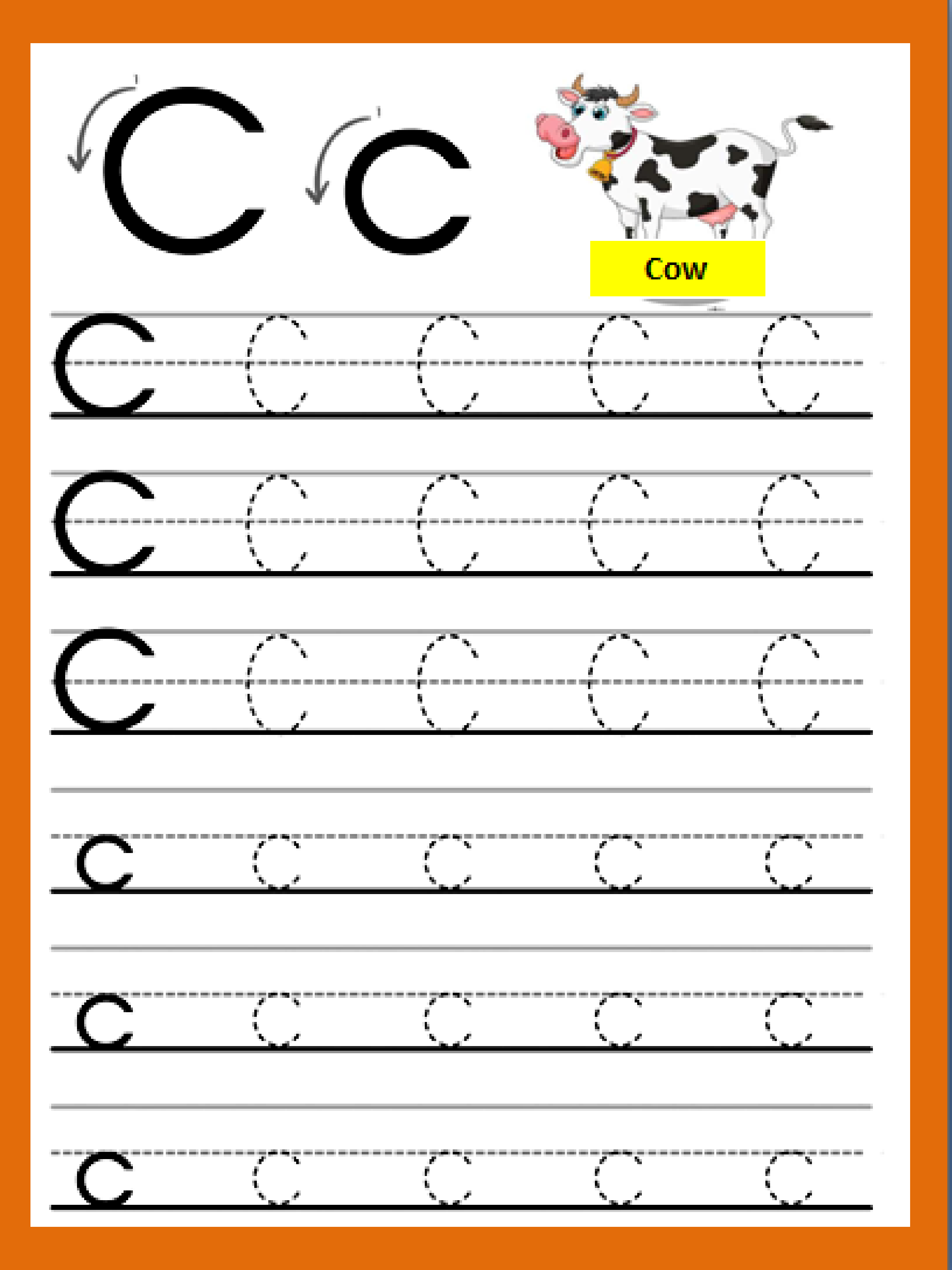Letter Tracing Worksheets Letters A