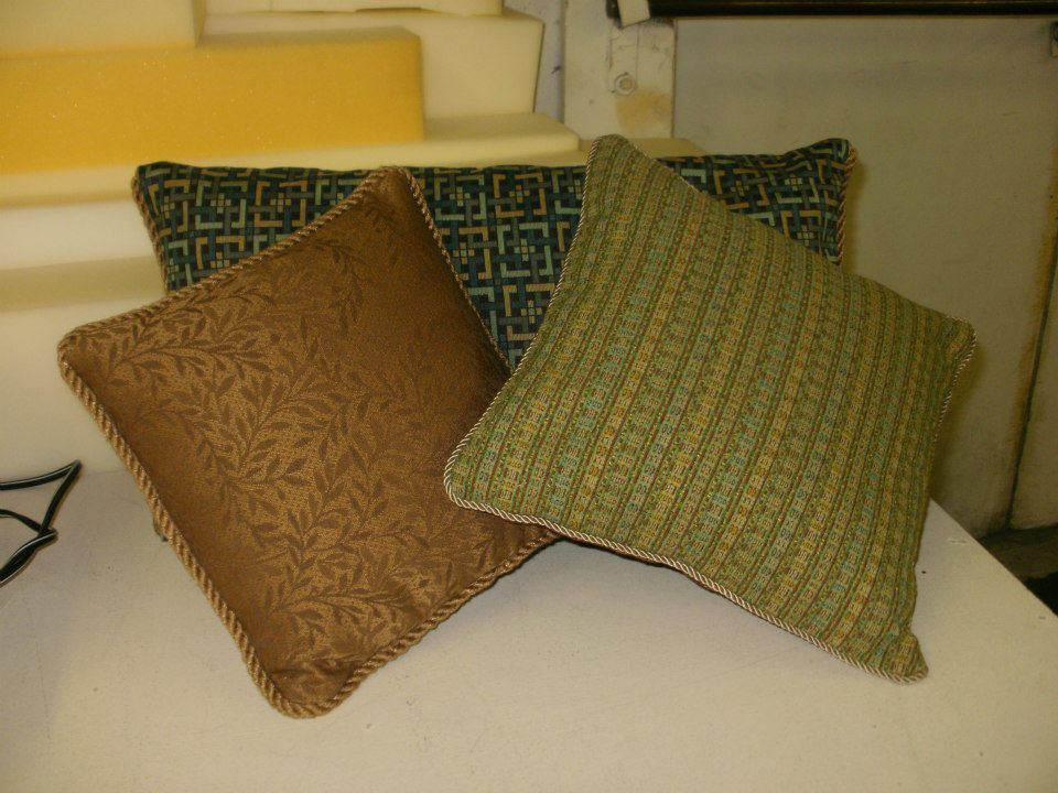 Pillows Made By A Customer Using Upholstery Sample