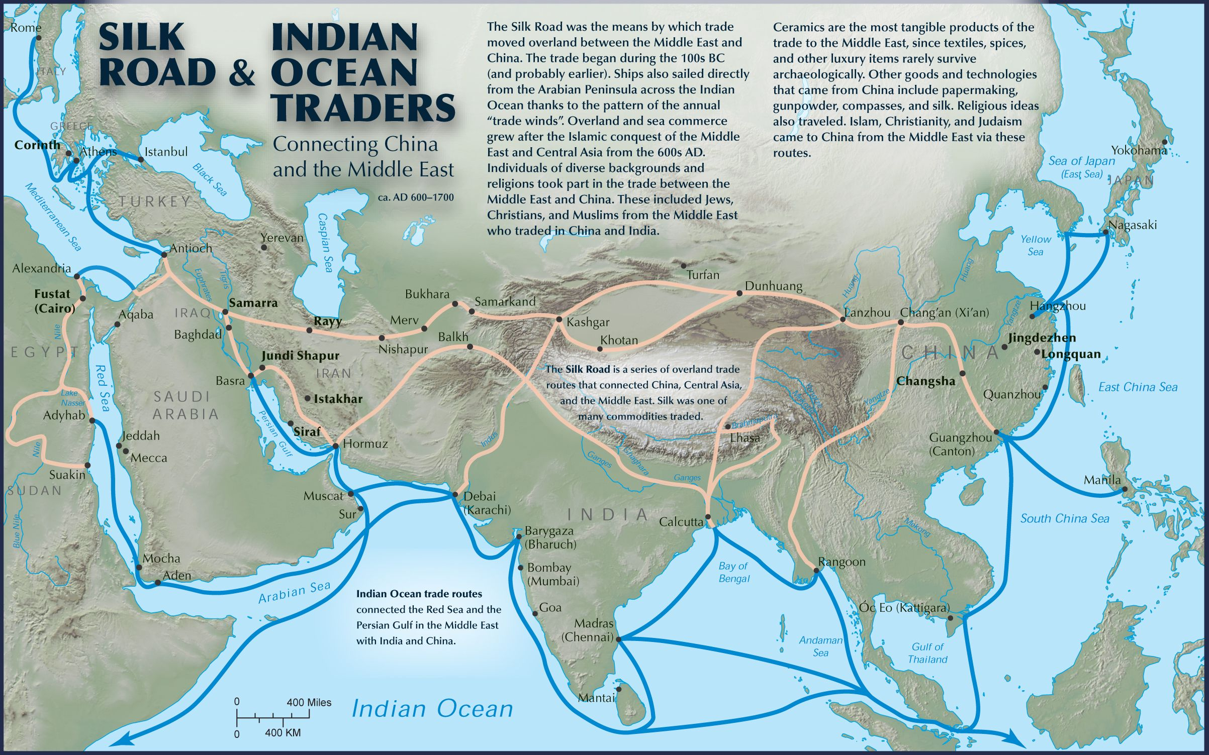 Silk Road And Indian Ocean Traders Connecting China And