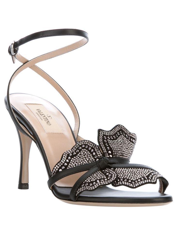 VALENTINO GARAVANI grey & silver sandals