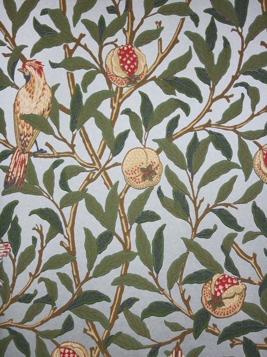 Bird And Pomegranate Wallpaper William Morris Best