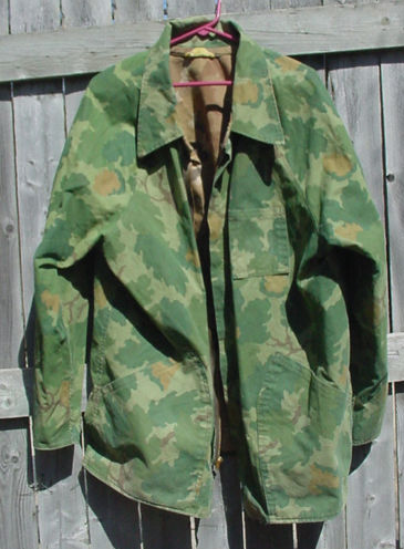 1a8c1663d049b Civilian chore coat made with rare surplus Mitchell camo. | Broken ...