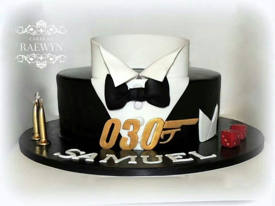 love this james bond inspired birthday cake by. Black Bedroom Furniture Sets. Home Design Ideas
