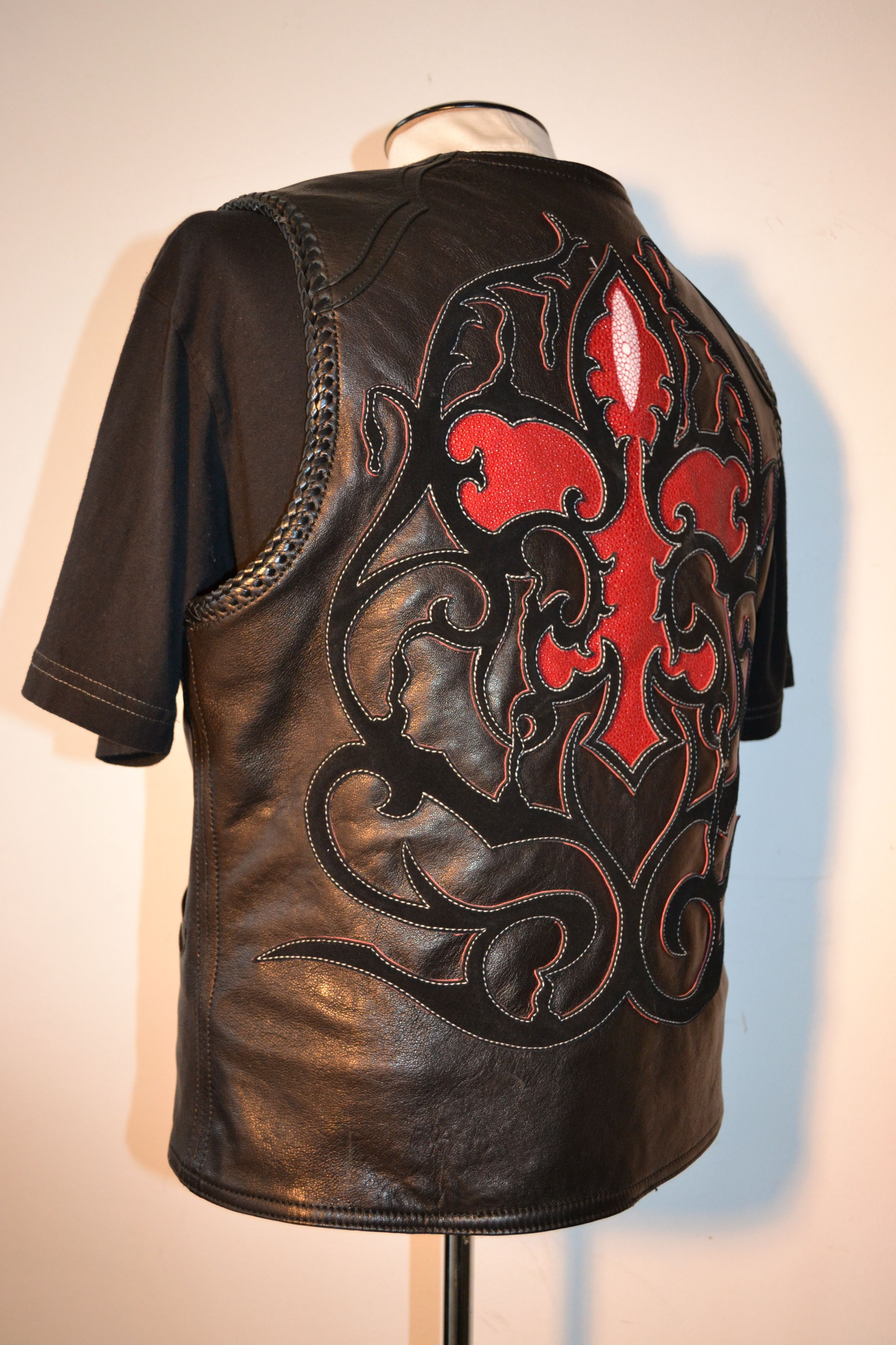 Custom Vest Hand Lacing And Red Stingray By Logan Riese
