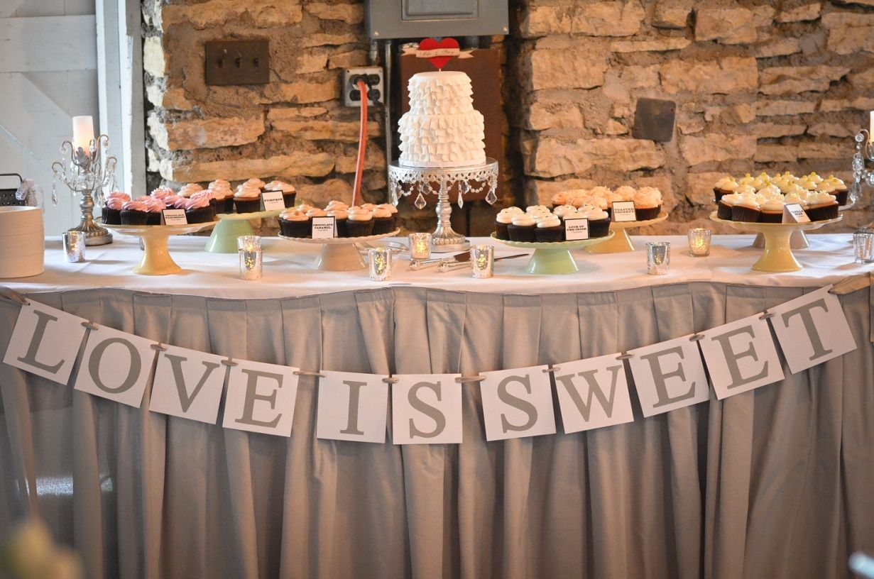 Formal dinner table decorations cake table with cupcakes  google search  th anniversary ideas