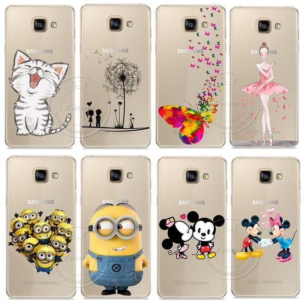 Minions Cat Mickey & Minnie Kiss Hard Case Cover For Samsung ...
